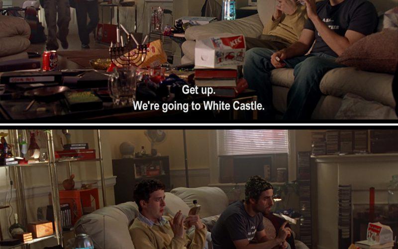 HBO, White Castle, Pepsi Wild Cherry and KFC in Harold & Kumar Go to White Castle