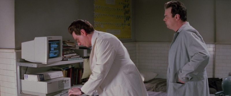 HP Monitor and Hewlett-Packard Scanjet Scanner Used by Harold Ramis in Ghostbusters 2 (1989) - Movie Product Placement