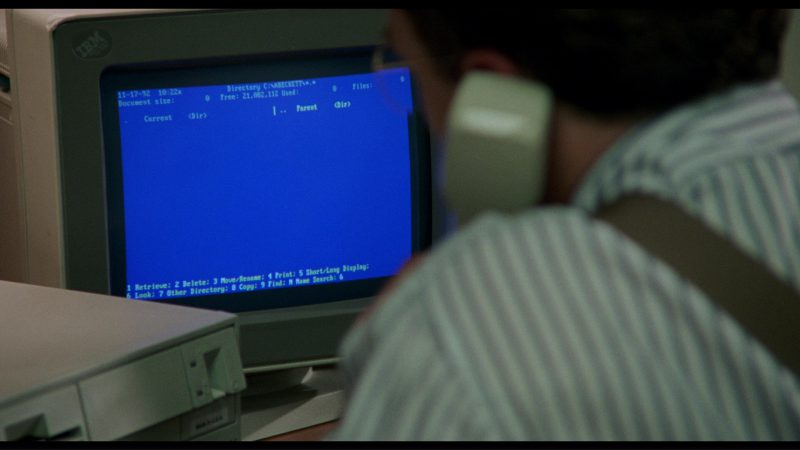 IBM Monitor and Personal Computer in Philadelphia (1993) Movie Product Placement