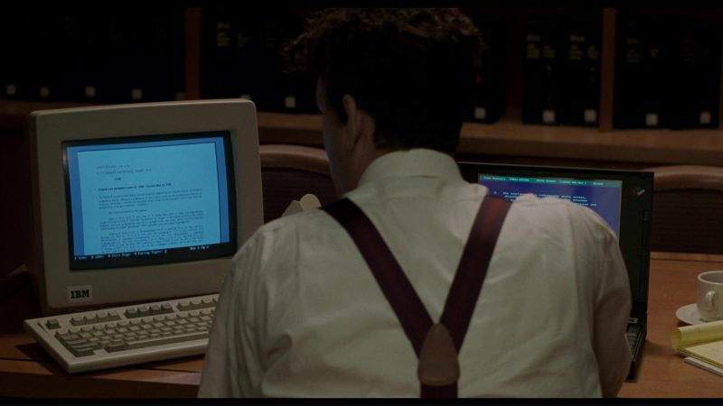 IBM PC and Notebook Used by Tom Hanks in Philadelphia (1993) - Movie Product Placement