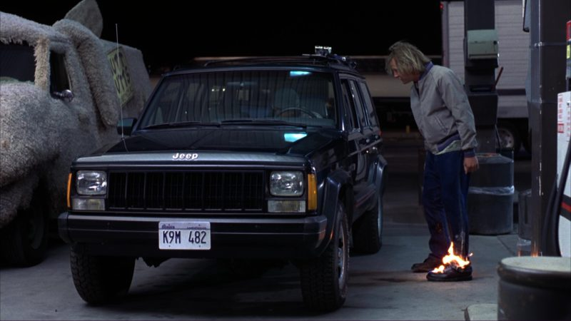 Jeep Cherokee Car Used by Victoria Rowell in Dumb and Dumber (1994) Movie Product Placement