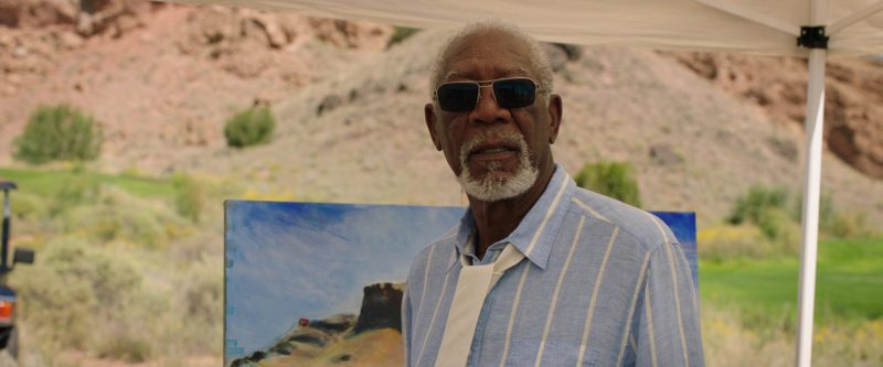 John Varvatos Sunglasses Worn by Morgan Freeman in Just Getting Started (2017) Movie Product Placement