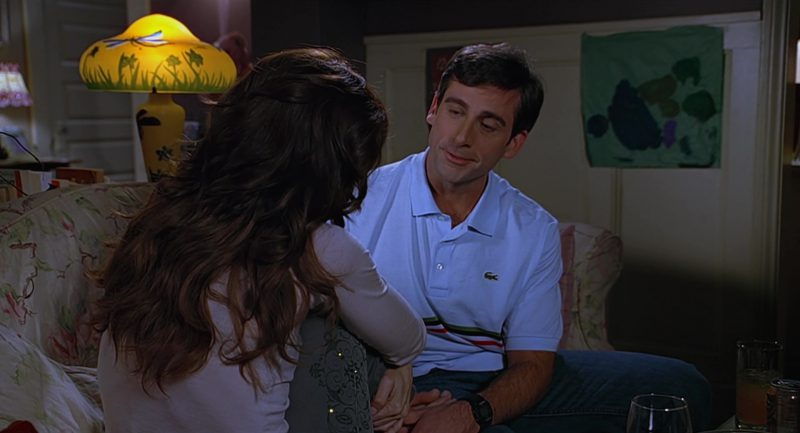 Lacoste Polo Shirt Worn by Steve Carell in The 40-Year-Old Virgin (2005) Movie Product Placement