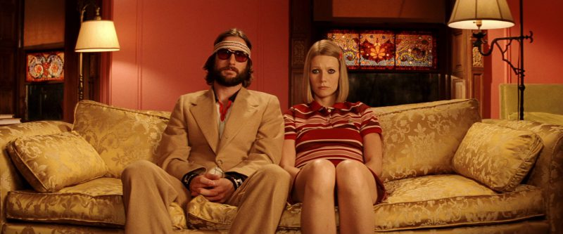 Lacoste Women's Red Striped Short Sleeve Mini Polo Dress Worn by Gwyneth Paltrow in The Royal Tenenbaums (2001) Movie Product Placement