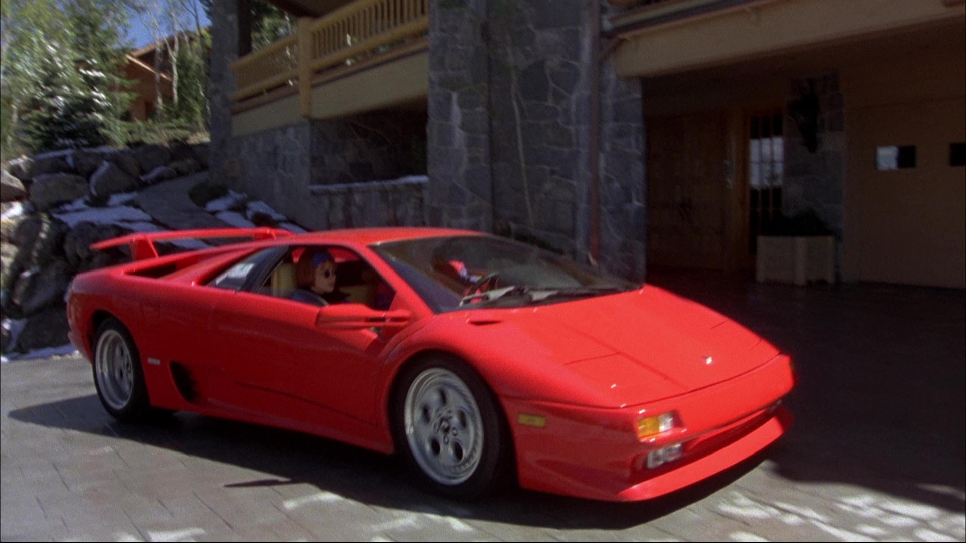 Lamborghini Diablo Red Sports Car Used By Jim Carrey And Jeff Daniels In Dumb And Dumber
