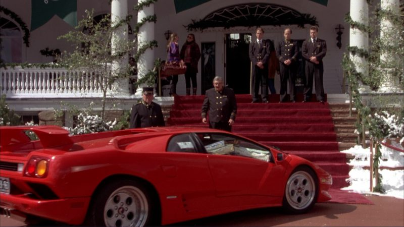 Lamborghini Diablo Red Sports Car Used by Jim Carrey and Jeff Daniels in Dumb and Dumber (1994) Movie Product Placement