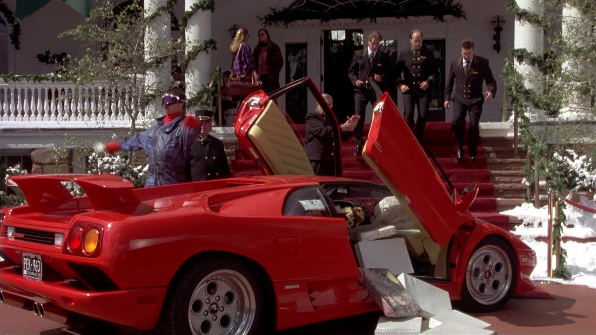 Lamborghini Diablo Red Sports Car Used By Jim Carrey And