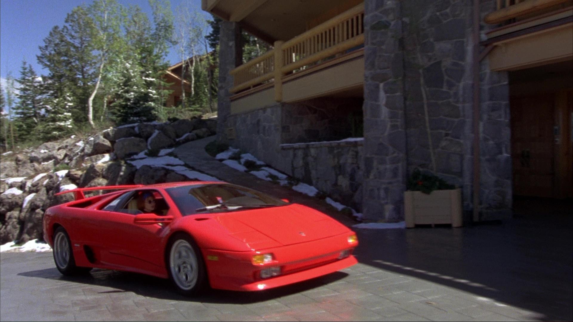 Lamborghini Diablo Red Sports Car Used By Jim Carrey And Jeff