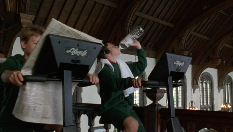 Lifecycle Stationary Exercise Bike by Life Fitness and Evian Water in Richie Rich (1994) - Movie Product Placement
