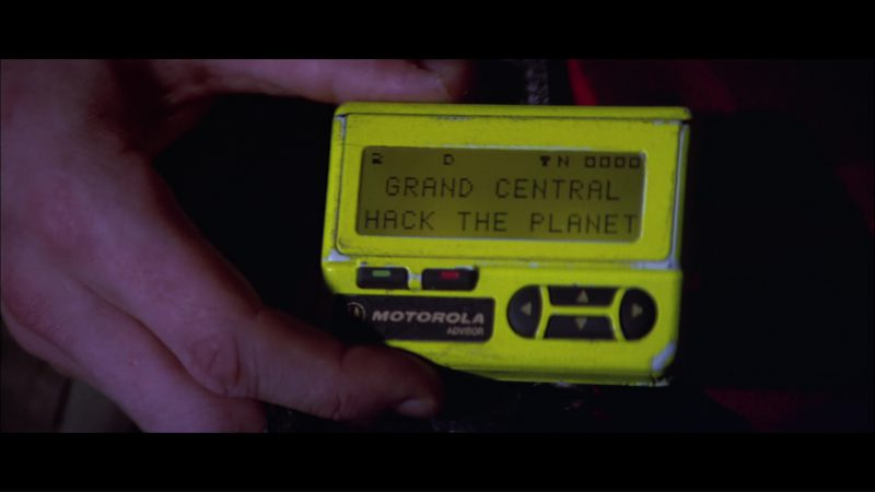 Motorola Advisor Pager (Yellow) Used by Matthew Lillard in Hackers (1995) - Movie Product Placement