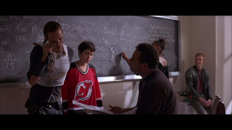 New Jersey Devils T-Shirt Worn by Angelina Jolie in Hackers (1995) - Movie Product Placement