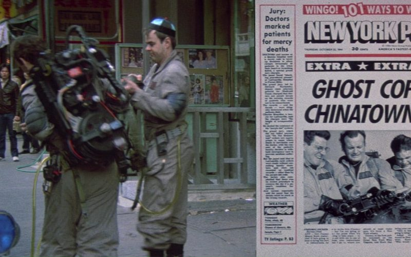 New York Post Newspaper in Ghostbusters (1)