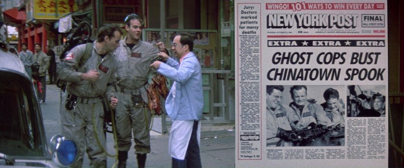 New York Post Newspaper in Ghostbusters (1984) Movie Product Placement