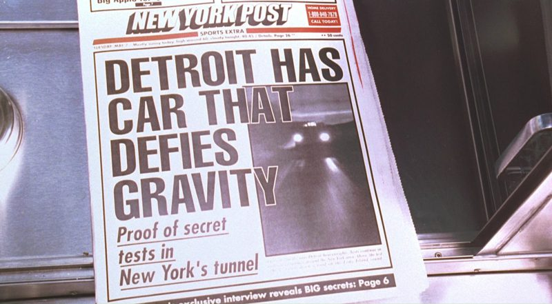 New York Post Newspaper in Men in Black (1997) - Movie Product Placement