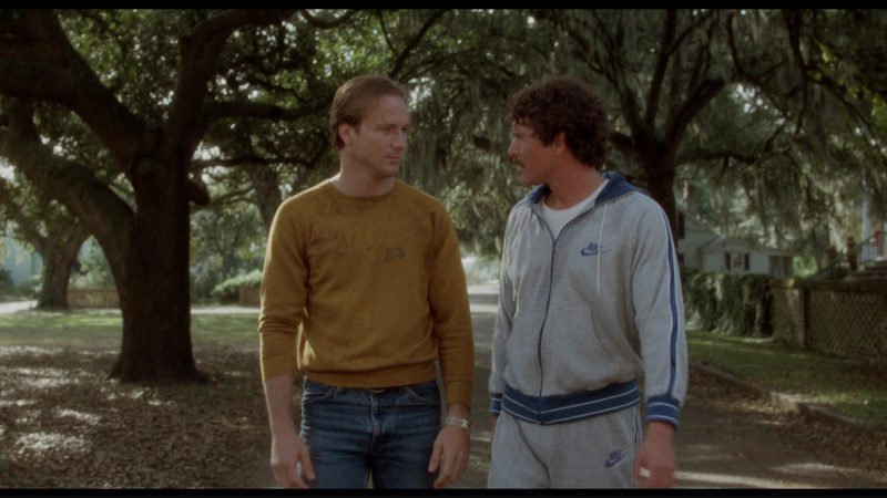 Nike Sweatshirt and Sweatpants Worn by Tom Berenger in The Big Chill (1983) - Movie Product Placement