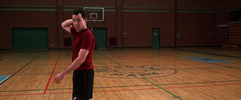 Nike Shorts (Black) Worn by Matthew Broderick in The Cable Guy (1996) Movie Product Placement