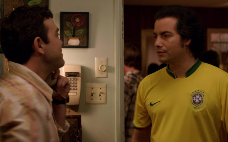 Nike Yellow T-Shirt Worn by Kevin Corrigan in Superbad (1)
