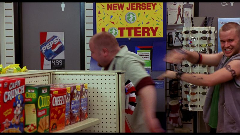 Pepsi Poster and  Cap'n Crunch, Club Crackers, Cheez-It, Cream of Wheat in Harold & Kumar Go to White Castle (2004) Movie Product Placement
