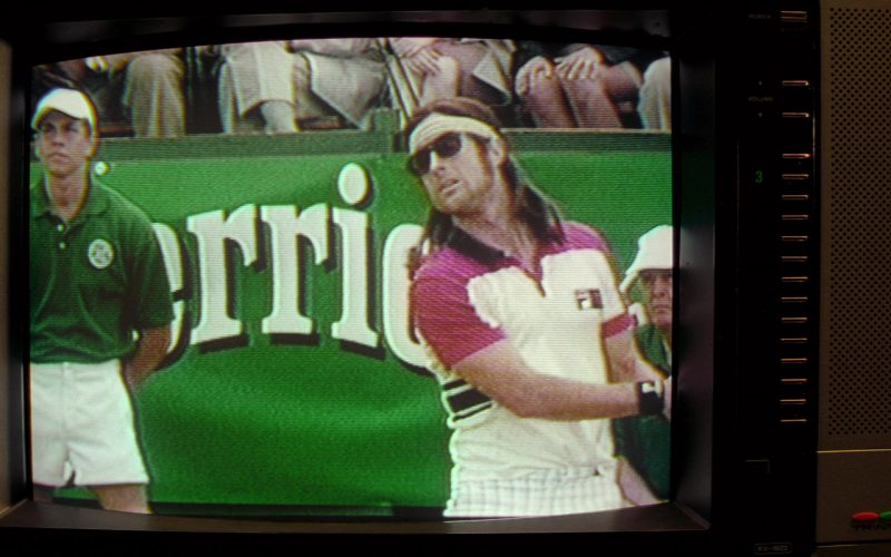 Perrier and Fila Polo Shirt in The Royal Tenenbaums