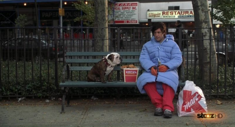 Popeyes and Kmart Bag in Little Nicky (2000) Movie Product Placement
