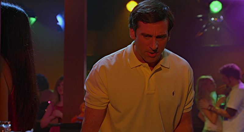Ralph Lauren Yellow Polo Shirt Worn by Steve Carell in The 40-Year-Old Virgin (2005) - Movie Product Placement