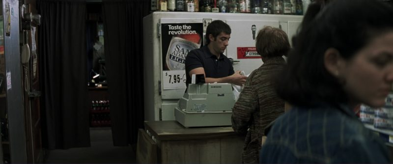 Sam Adams Light Poster in Mystic River (2003) Movie Product Placement