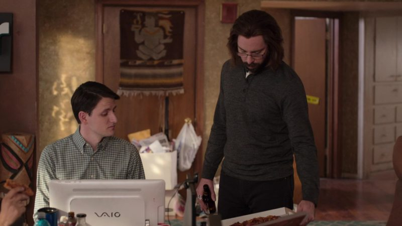 Sony VAIO Computer Used by Zach Woods (Jared Dunn) in Silicon Valley: Grow Fast or Die Slow (2018) TV Show Product Placement