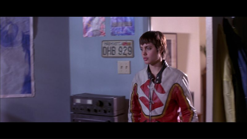 Suzuki Motorcycle Jacket Worn by Angelina Jolie in Hackers (1995) - Movie Product Placement