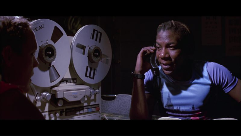 Teac and Maxell And AT&T Phone Used by Laurence Mason in Hackers (1995) Movie Product Placement