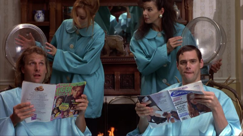 Tiger Beat Read by Jim Carrey and Sassy Magazine Read by Jeff Daniels in Dumb and Dumber (1994) Movie Product Placement