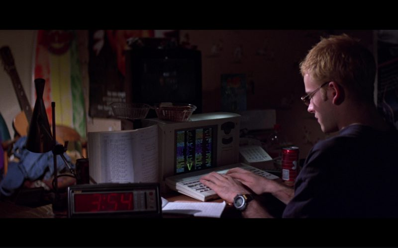 Timex Clock, Jolt Cola And Casio Protrek ATC-1100 Watch Used by Jonny Lee Miller in Hackers