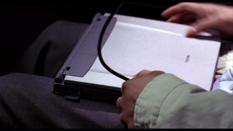 Toshiba Notebook Used by John Cho in Harold & Kumar Go to White Castle (2004) - Movie Product Placement