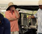 Under Armour Blue Polo Shirt And Black Bucket Hat Worn by Tommy Lee Jones in Just Getting Started (3)