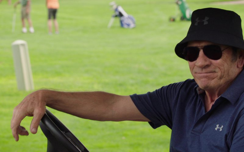 Under Armour Blue Polo Shirt And Black Bucket Hat Worn by Tommy Lee Jones in Just Getting Started (4)