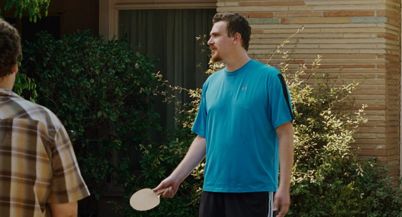 Under Armour Blue T-Shirt Worn by Jason Segel in Knocked Up (2007) - Movie Product Placement