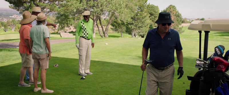 Under Armour Bucket Hat, Polo Shirt and Ping Golf Club Used by Tommy Lee Jones in Just Getting Started (2017) Movie Product Placement