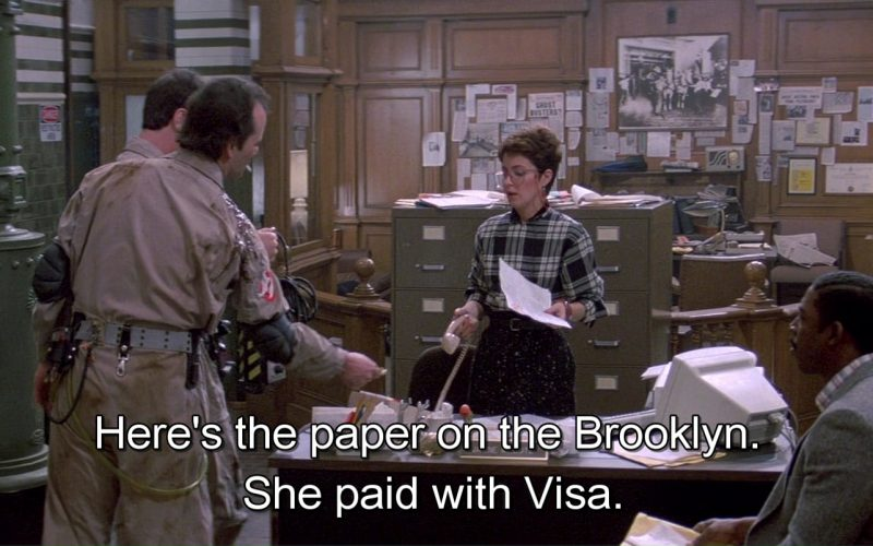 VISA in Ghostbusters (1984)