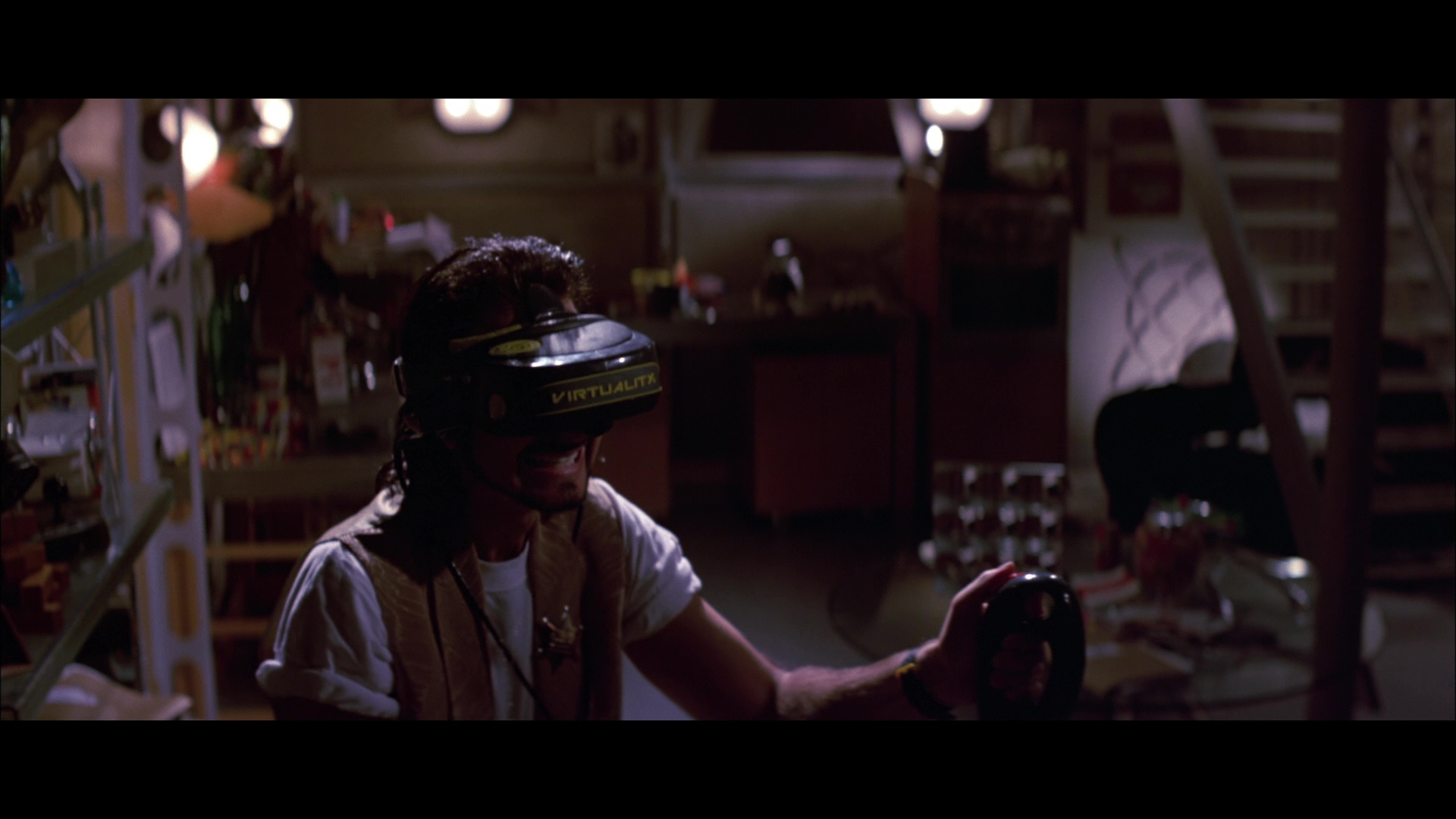 Virtuality Virtual Reality Headset Used by Fisher Stevens ...