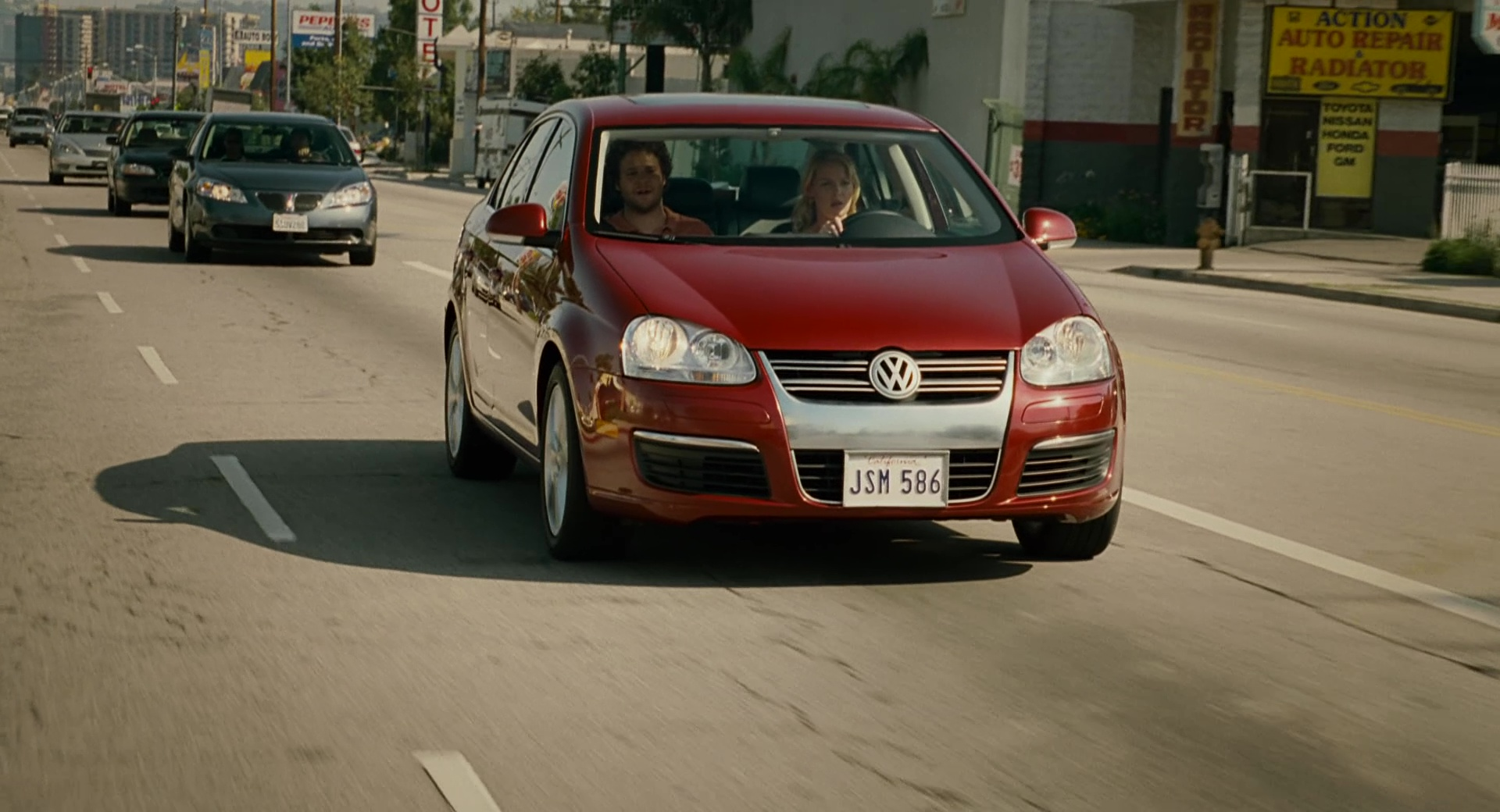 Volkswagen Jetta A5 [Typ 1K] Red Car Used by Katherine Heigl in Knocked Up (2007) Movie