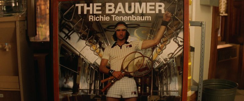 Wilson Tennis Racket and Fila Shirt, Headband, Wristbands and Shorts Worn by Luke Wilson in The Royal Tenenbaums (2001) Movie Product Placement