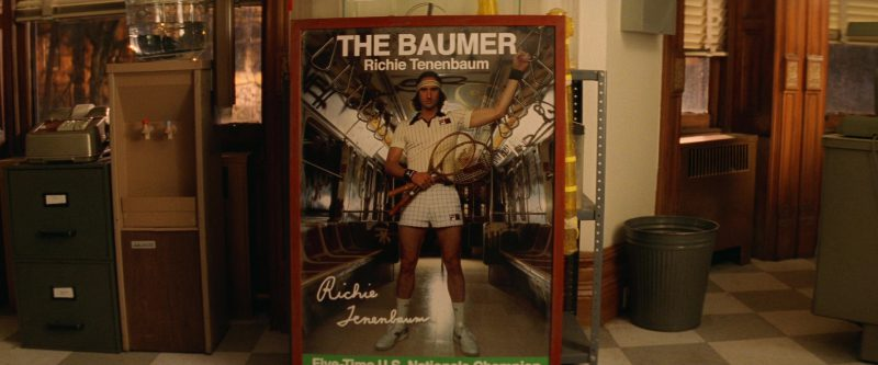 Wilson Tennis Racket and Fila Shirt, Headband, Wristbands and Shorts Worn by Luke Wilson in The Royal Tenenbaums (2001) - Movie Product Placement