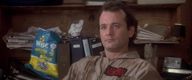 Wise All Natural Potato Chips and Bill Murray in Ghostbusters (1984) - Movie Product Placement
