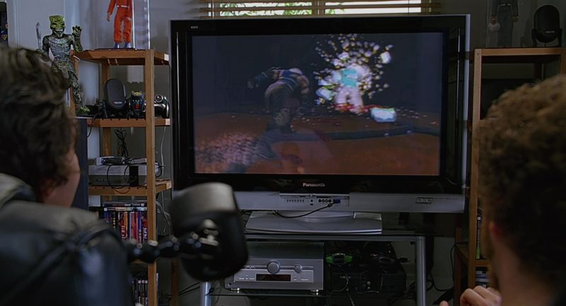 Xbox And Panasonic TV Used by Seth Rogen and Paul Rudd in The 40-Year-Old Virgin (2005) Movie Product Placement