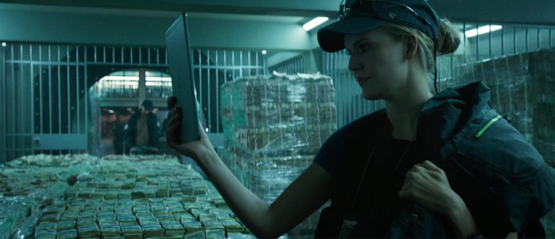 '47 Cap and Apple iPad Used by Maggie Grace in The Hurricane Heist (2018) - Movie Product Placement