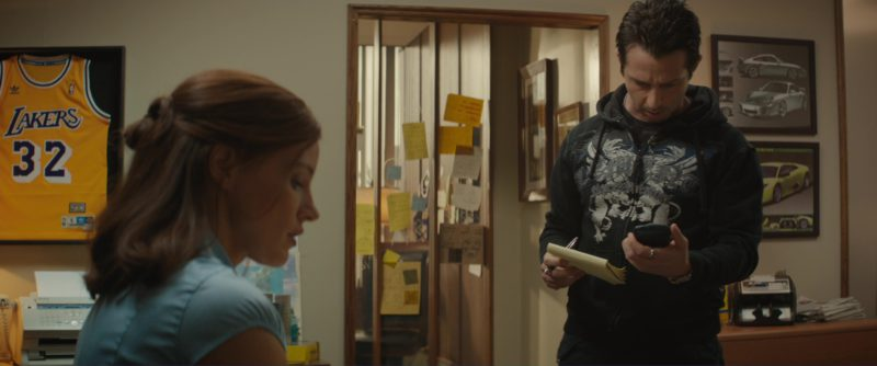 """Adidas """"Los Angeles Lakers"""" Basketball Team T-Shirt in Molly's Game (2017) - Movie Product Placement"""
