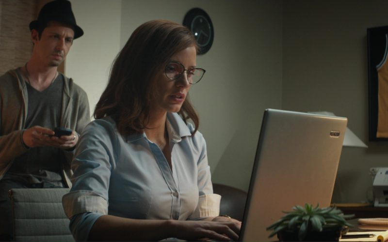 Adidas X Lakers T-Shirt and Acer Laptop Used by Jessica Chastain in Molly's Game