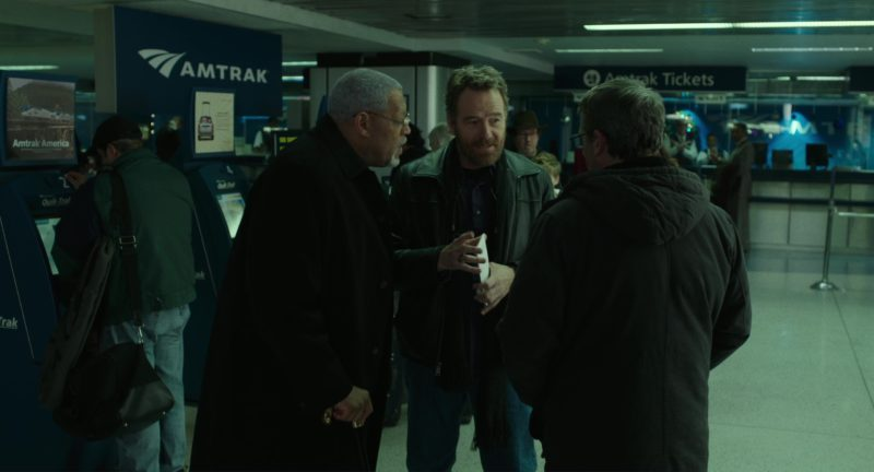 Amtrak Train Used by Steve Carell, Bryan Cranston and Laurence Fishburne in Last Flag Flying (2017) Movie Product Placement