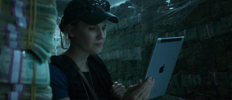 Apple iPad Tablet Used by Maggie Grace in The Hurricane Heist (2018) Movie Product Placement