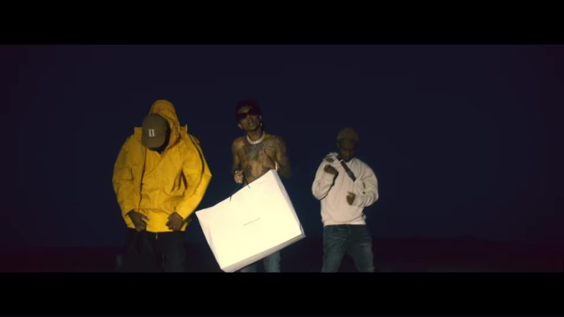 Balenciaga Paper Bag in Aries (YuGo) Part 2 by Mike WiLL Made-It, Rae Sremmurd, Big Sean ft. Quavo, Pharrell (2018) Official Music Video Product Placement