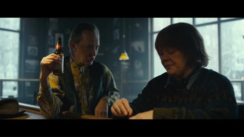 Budweiser Beer Drunk by Richard E. Grant in Can You Ever Forgive Me? (2018) Movie Product Placement